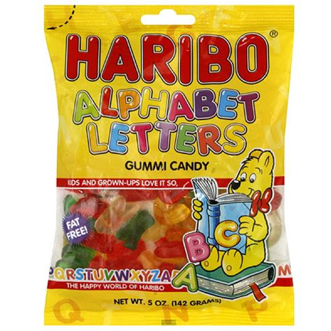 fruit 12 letters haribo alpha letters fruit gummies 5 oz pack of 12