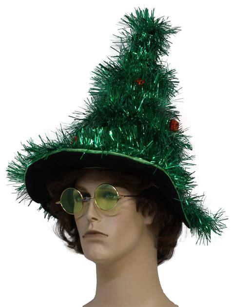 Ugly christmas tree tinsel hat green tinsel garland christmas tree