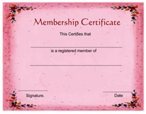 free membership certificate template free membership certificate template certificatetemplate net