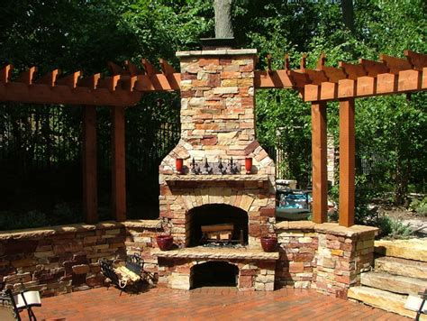 ada pool wall and outdoor fireplace