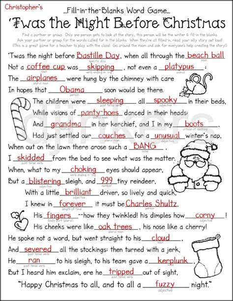printable version of night before christmas night before christmas clipart 69