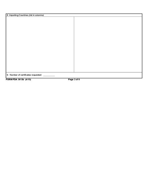 supplementary b form form fda 3613b supplementary information certificate of