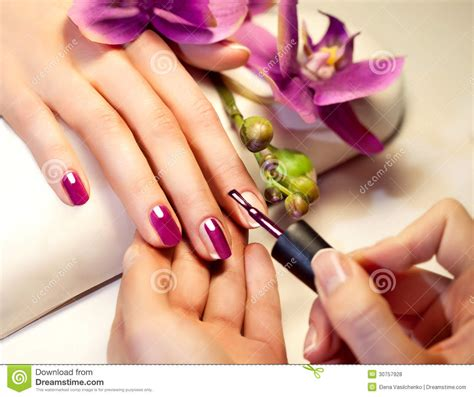 nail painting for free manicure nail paint pink color royalty free stock photos