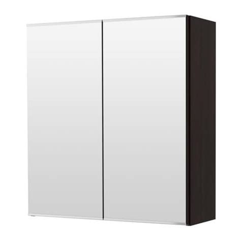 ikea mirrored bathroom cabinet lill 197 ngen mirror cabinet with 2 doors black brown ikea