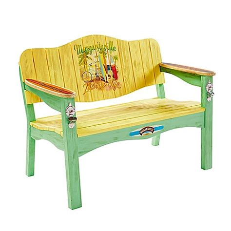bed bath and beyond bench margaritaville 174 outdoor quot island life quot surfboard bench