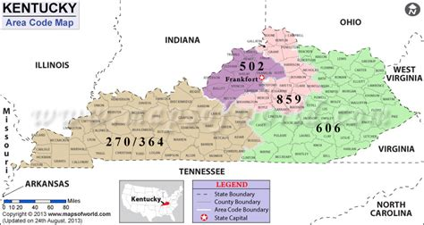map kentucky area codes pin ky area code map on