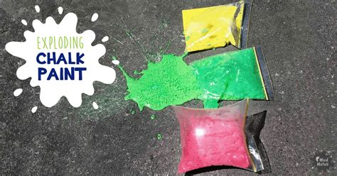 chalk paint nz exploding chalk paint bags mud mates play