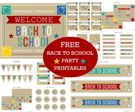 6 back to school tutorials and free printables the diy mommy free back to school party printables from printabelle