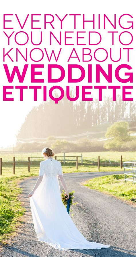 Wedding Etiquette by What You Need To About Modern Wedding Etiquette