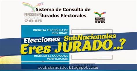 lista de jurados electorales 2015 bolivia consultar lista de jurados electorales subnacionales bolivia 2015