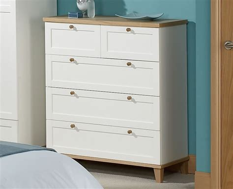 neve soft grey and weathered 3 2 drawer chest
