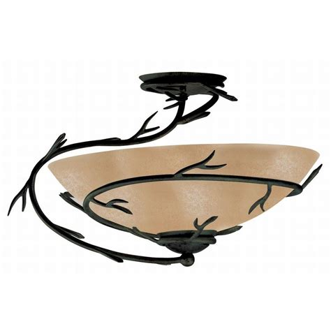 light twigs kenroy home twigs 1 light bronze semi flush mount light
