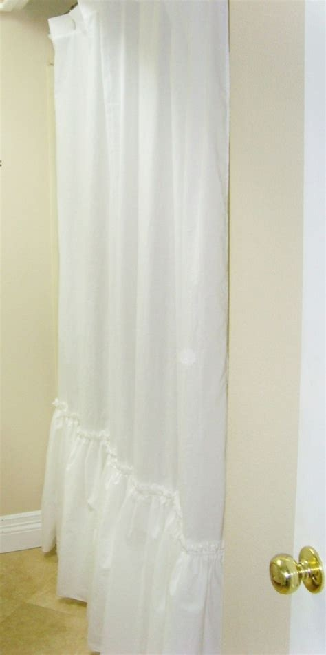 cottage shower curtain ruffle shower curtain by simple linens shabby cottage
