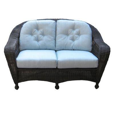 wicker settee cushion sets north cape wicker loveseat cushion set