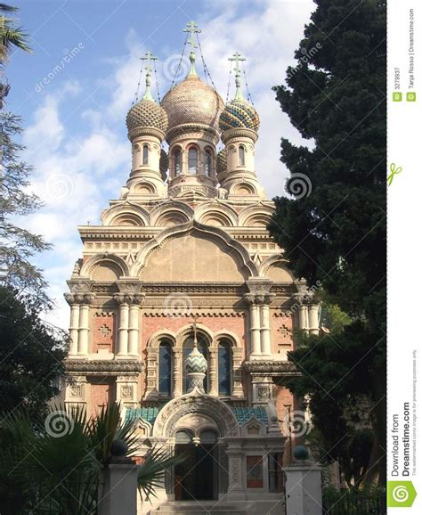 cing fiori san remo russian church in sanremo royalty free stock photography