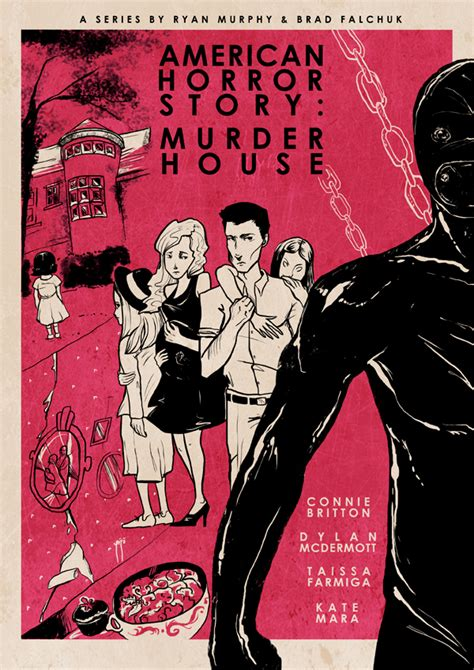 ahs murder house american horror story murder house inspired posters on behance