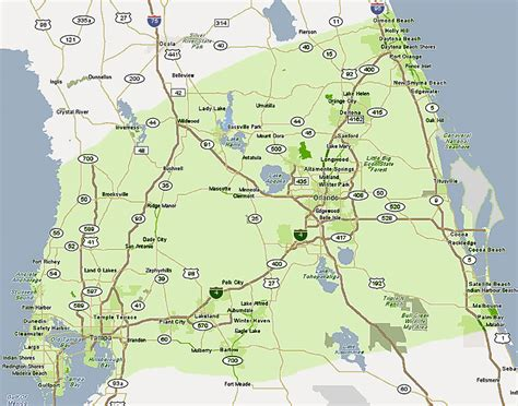 central florida optimus 5 search image detailed map of central florida