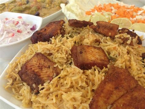 fb rice fish biriyani saute fry n bake