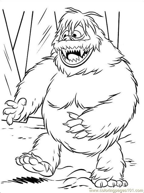 Abominable Snowman Coloring Pages abominable snowman printable coloring pages