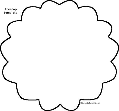 Stand Up Tree Craft Enchanted Learning Software Tree Cutout Template