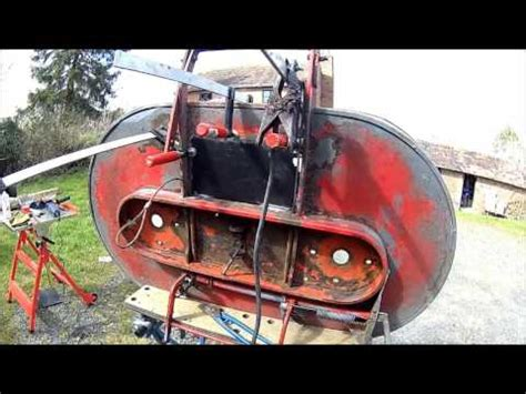 westwood ride  mower cutting deck repair early diesel