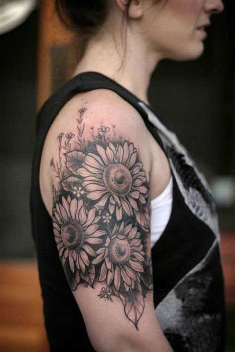 sunflower arm tattoo 25 amazing sunflower designs meanings epic