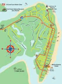 map of tybee island tybee island ga