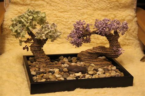 diy zen gardens cardboard bonsai tree