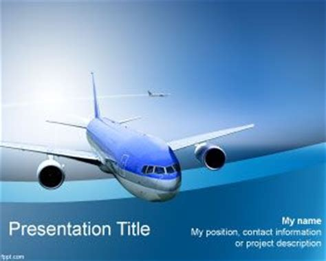 airplane ppt template free airline powerpoint template