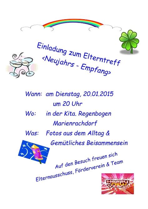 Muster Einladung Zum Neujahrsempfang Einladung Zum Neujahrsempfang Kindergarten Marienrachdorf