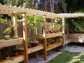pergola bench love the combo of the pergola bench seat and shelving incorporated into one unit