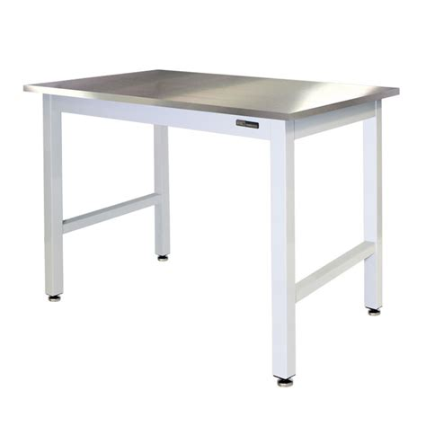 stainless steel table l iac lab table bench stainless steel top equipmax