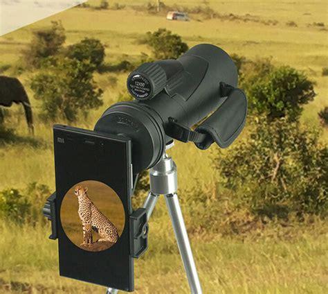 Bushnell Teropong Monokular 16x52 Focus And Zoom Lens Adjustable Teles mount universal smartphone ke teropong monokular black jakartanotebook