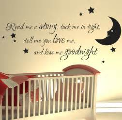 Wall Sticker Quotes For Nursery Nursery Wall Sticker Read Me A Story Kids Art Decals