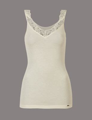 modal rich thermal vest with silk | m&s