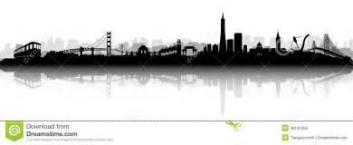 san francisco skyline silhouette san francisco skyline silhouette vector royalty free stock