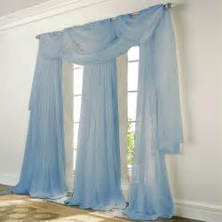 Sheer Elegance Curtains Elegance Voile Blue Sheer Curtain Bedbathhome