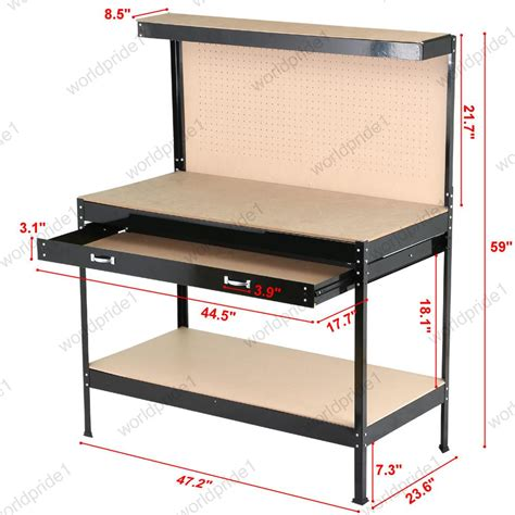 workbench with drawers and light heavy duty workbench for garage drawers light industrial