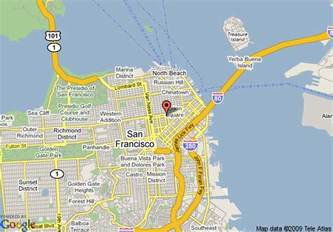san francisco map union square map of 8 san francisco union square area san francisco
