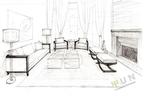 living room drawing interior design sketches wallpress 1080p hd desktop
