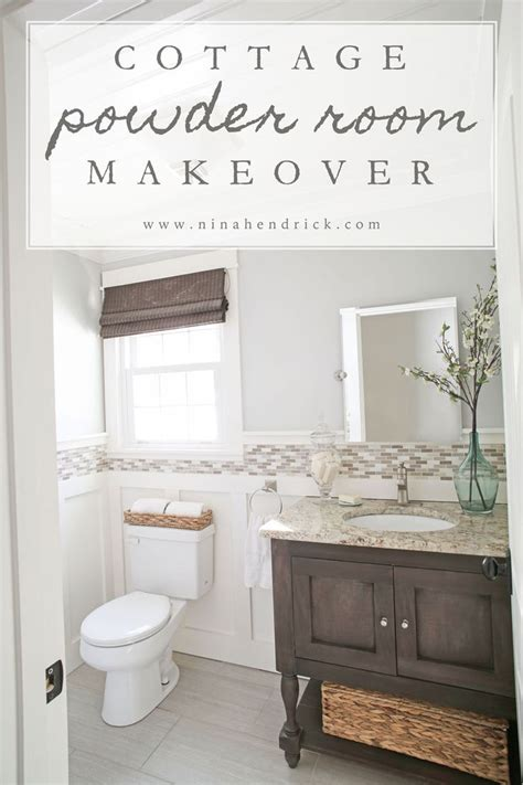 small bathroom makeovers casual cottage diy board and batten cottage powder room makeover powder