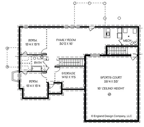 4 bedroom ranch house plans with walkout basement
