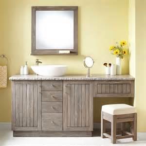 Vanity with makeup area gray wash modern bathroom vanities and sink