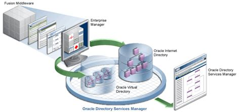 Finder Services Technical Illustration Showing Oracle Directory Services Manager