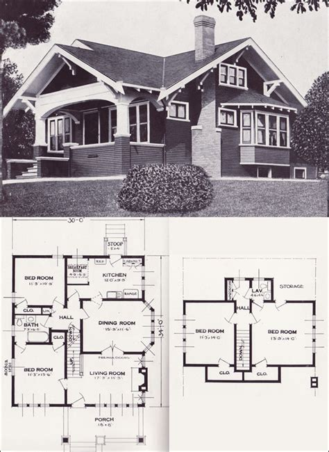1920s Bungalow Floor Plans 1920s Cottage House Plans