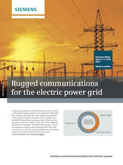 rugged communications the industrial ethernet book articles ads ad rugged communications for the electric power