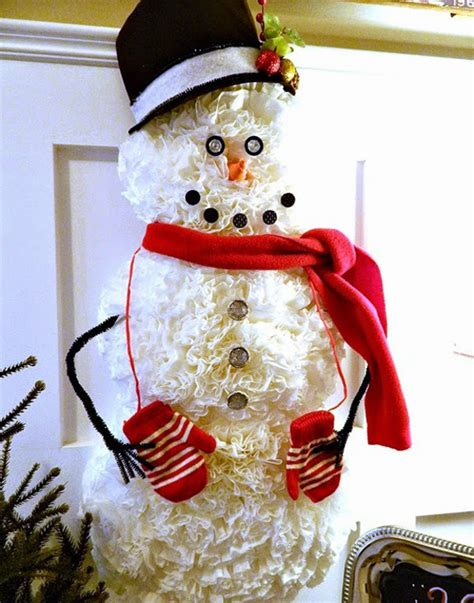 coffee filter snowman allfreeholidaycraftscom