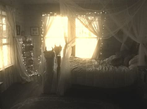 bedroom with lighted canopy tumblr bedroom canopy twinkle magical image 1895009 by taraa on favim com
