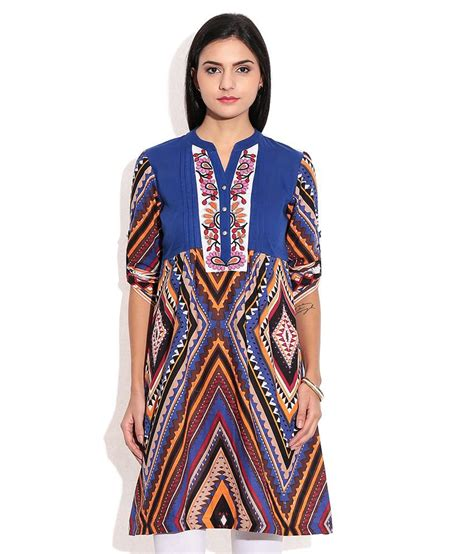 65180 Rainbow Tunic 1 buy rainbow blue cotton tunics at best prices in india snapdeal