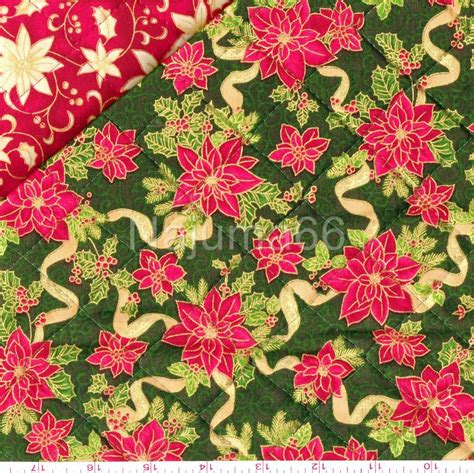 Pre Quilted Fabric Patterns by New Pre Quilted Sided Season Greetings